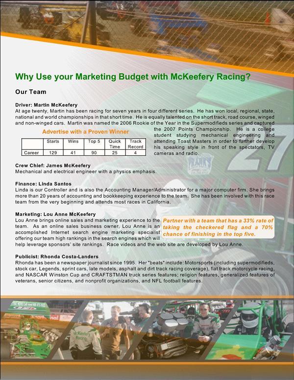 Racing Sponsorship Proposal Template Choice Image Template Design